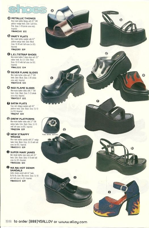 90-es évek divatja cipők