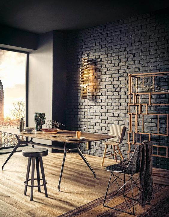 Bruno Tarsia - Brick Walls, Industrial Decor, Industrial Decoration, Industrial Design, Window Wall, Wood Decoration, Wooden Floor, Industrial, Faux Brick Walls, Fake Brick Walls: