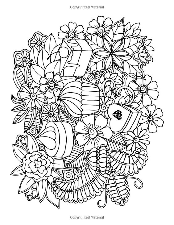 amazon desserts and cupcakes coloring book for grown