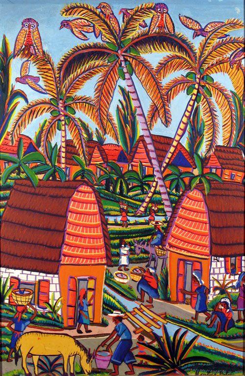 Haiti, Scene and Haitian art on Pinterest