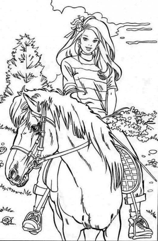 horse and rider printable horse
