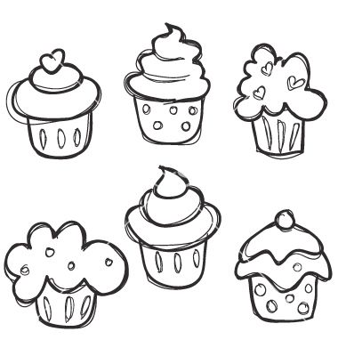 Easy To Draw Cupcakes For The Kids Or Those Of Use Who