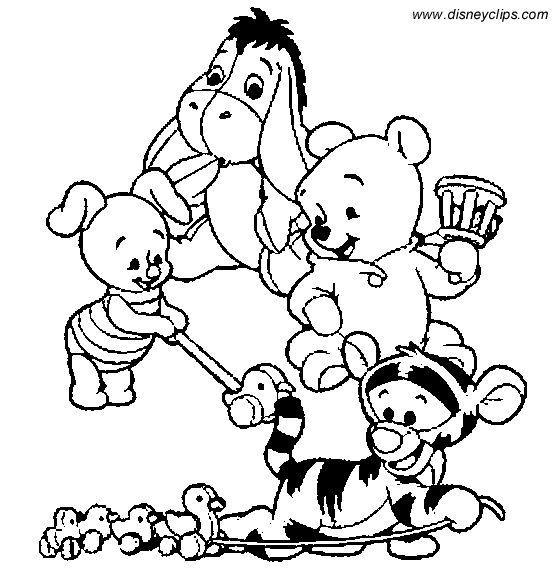 baby pooh bär ausmalbilder winnie puuh malseite 595