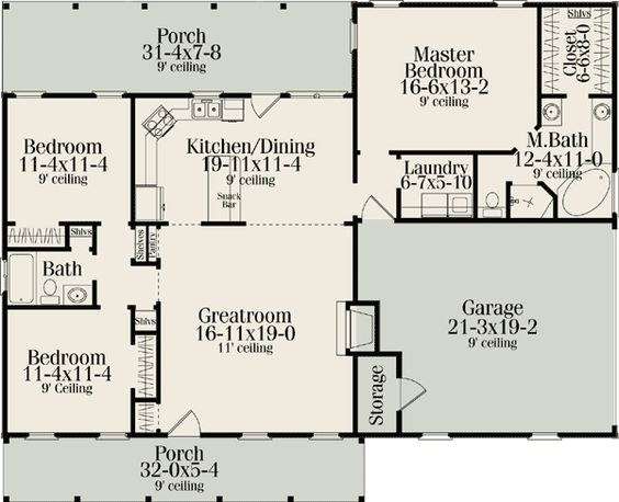 Plan 62099V: Split Bedroom Country Ranch