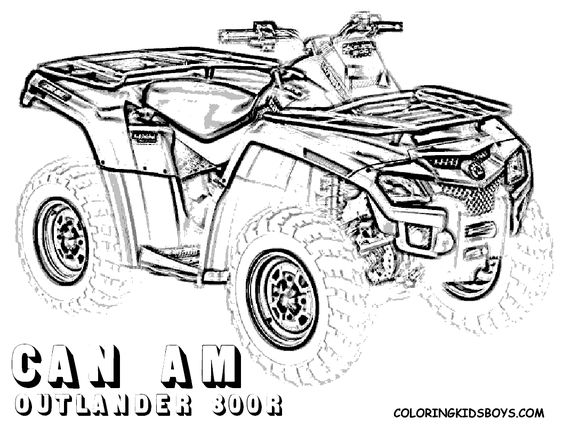 four wheeler coloring pages of canam outlander 0r at