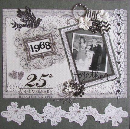 25th Wedding Anniversary Scrapbook