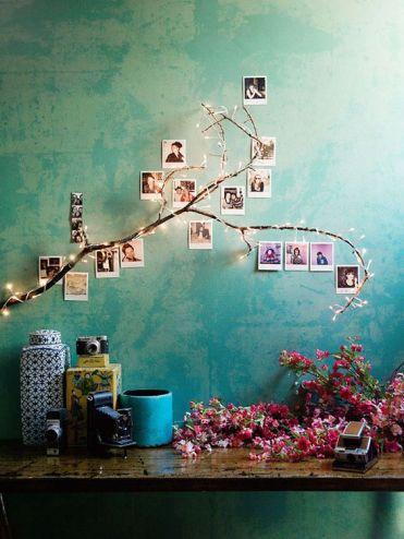 Ideas para decorar una habitación con fotos: