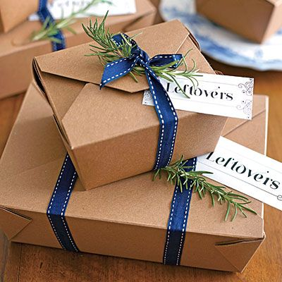 Leftovers Package | Send Thanksgiving guests home with a yummy care package of leftovers.: