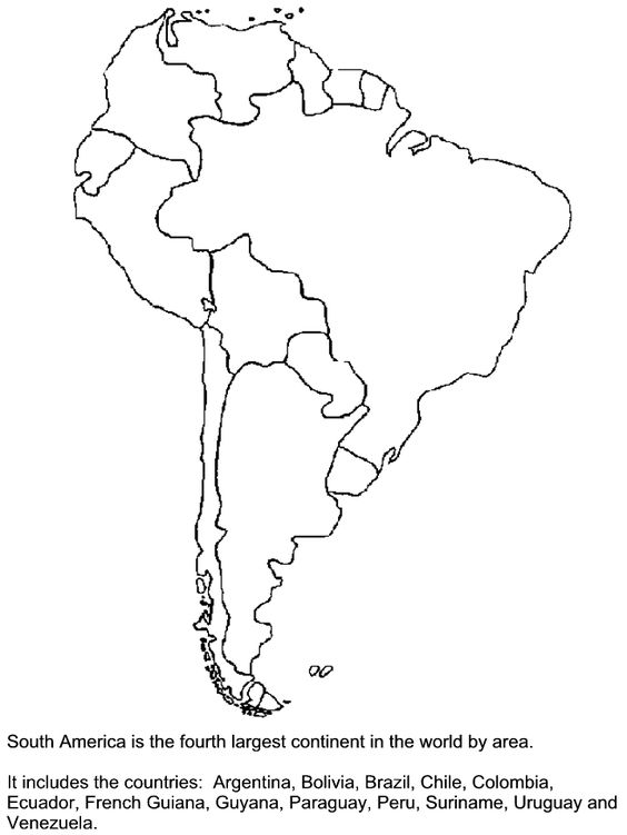 south america america and coloring pages on pinterest