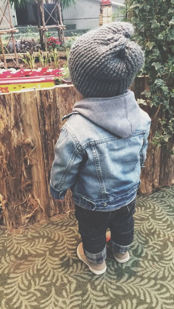 Could easily do this with pieces from Ronny's wardrobe... #flannel #jeanjacket #knitcap: