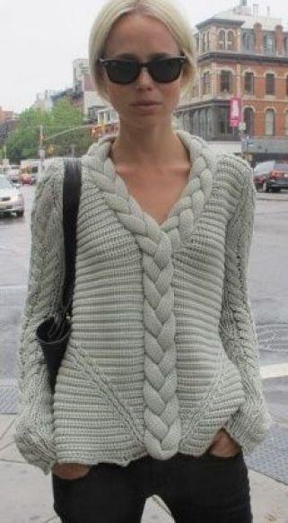 blusa com trança diferente: