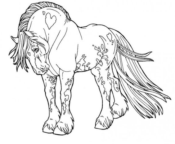 horse coloring pages big horses and coloring pages on pinterest