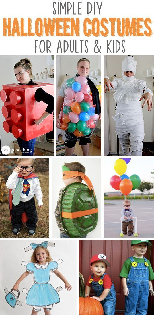Simple DIY Halloween Costumes For Adults & Kids
