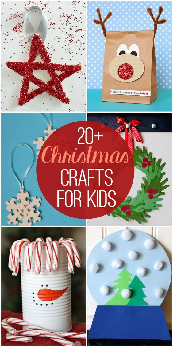 20+ Christmas Crafts for Kids so many cute and fun craft