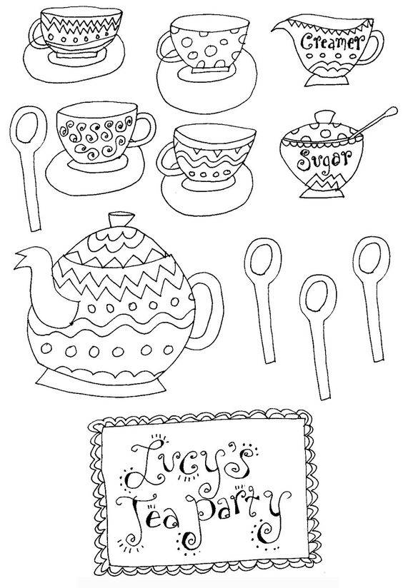 tea parties coloring pages and coloring on pinterest