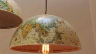 Minha luminária de globo terrestre - * Decoração e Invenção *: