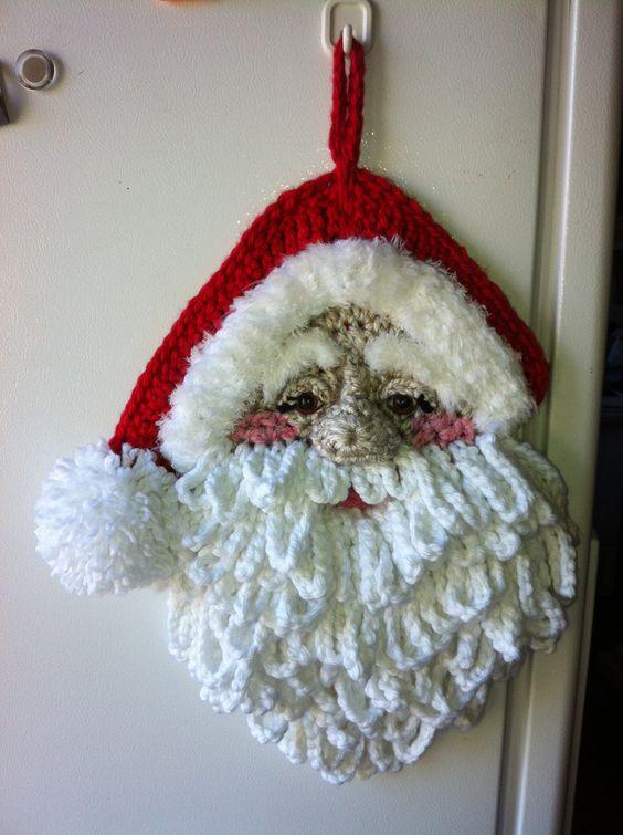Crochet Santa Wall Decor By Jerre Lollman Crochet 2