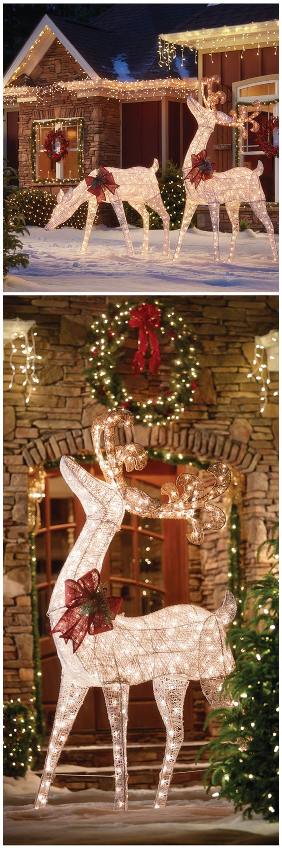 These luminous deer figures will add a classic, rustic