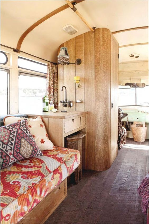 Wow...check out this vintage bus camper! ♥: