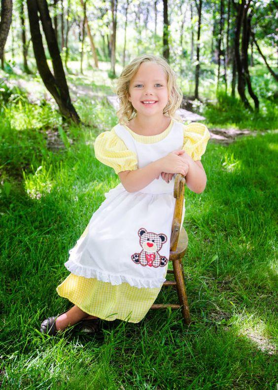 Cute Little Goldilocks Costume dress Costume dress