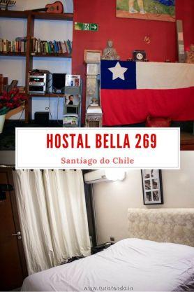 Uma boa dica de hospedagem na cidade de Santiago do Chile: o hostel Bella 269 no bairro de Bellavista.  Além dos quartos coletivos, o hostal oferece também hospedagem em quarto privado com banheiro (na ala das suítes).