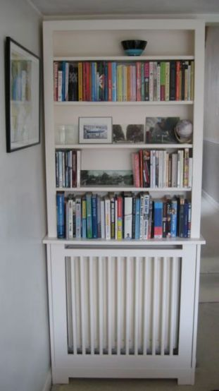 corner radiator bookcase