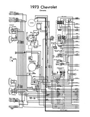 wiring diagram 1973 corvette | Chevy Corvette 1973 Wiring