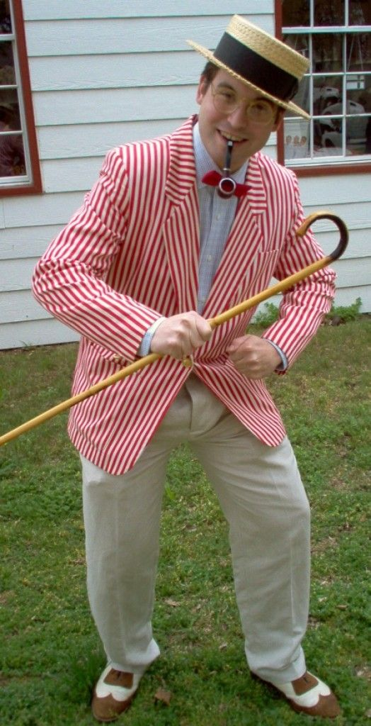 Mens Vintage Attire KENTUCKY DERBY Parties Skimmer Hats