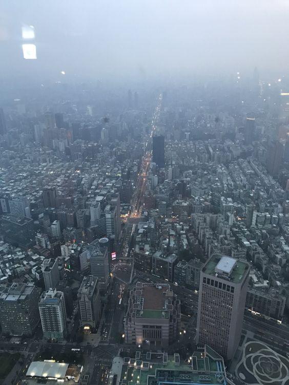 Taipei dusk view