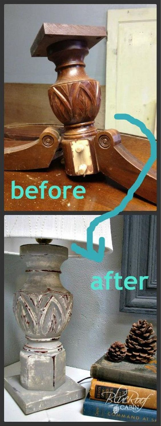 Make a lamp base from an old table base DIY projects