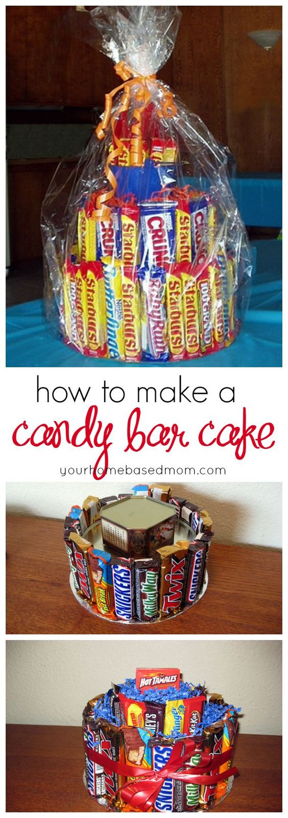 How to Make a Candy Bar Cake Birthdays, Candy bars and Cakes