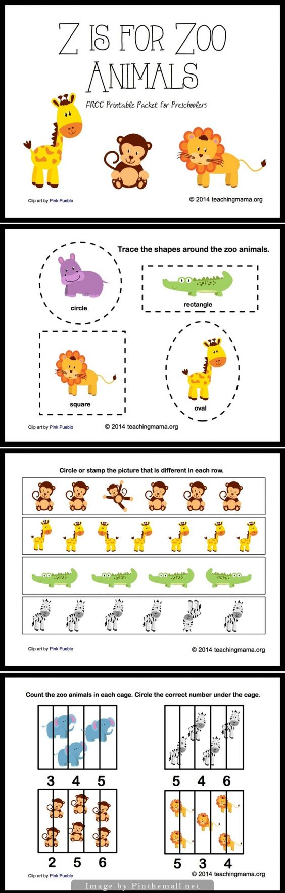 Z is for Zoo Animals Letter Z Printables Animales