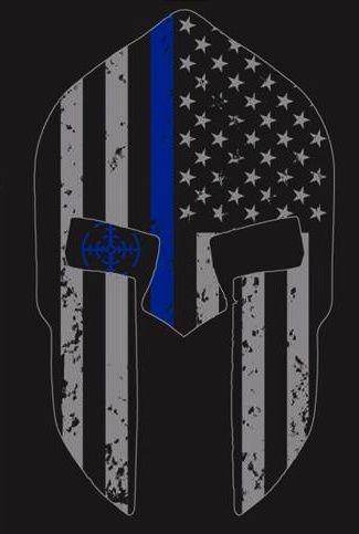 Thin Blue Line Spartan Helmet T Shirt Daves Pinterest