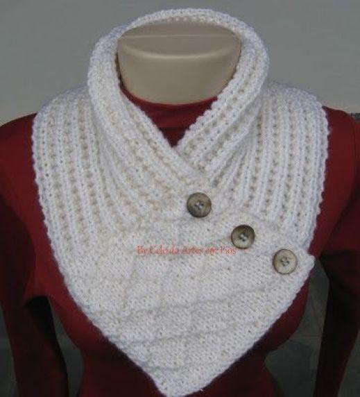 Celeida Artes em Fios: Gola de tricô - com receita: