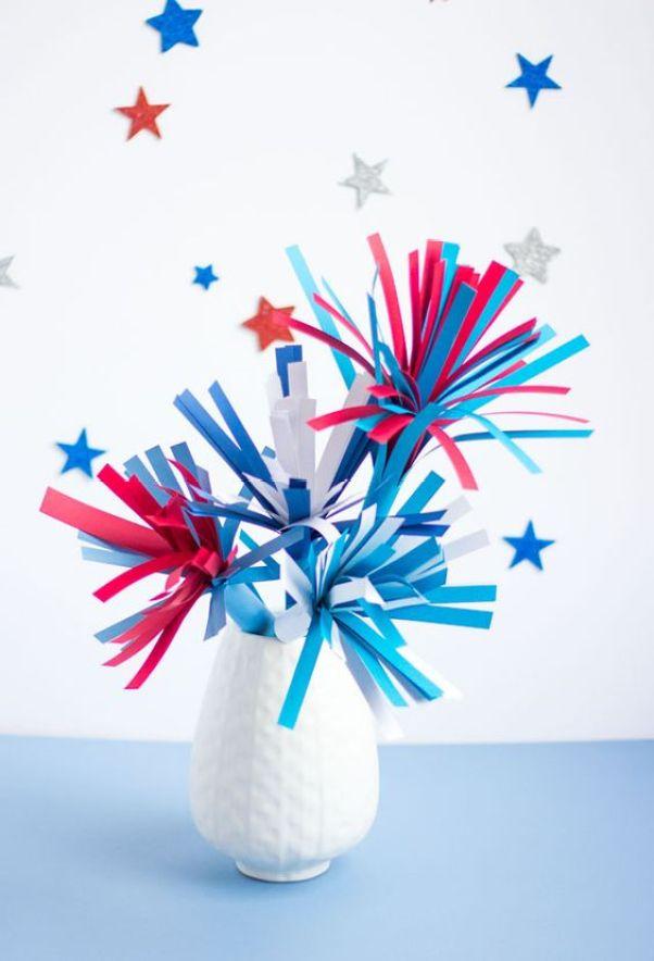 DIY Paper Fireworks Centerpiece: