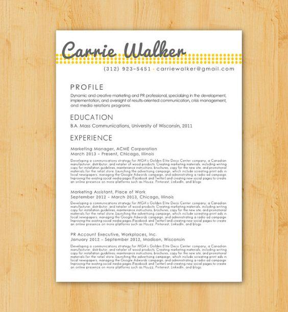 resume design resume and resume writing on pinterest