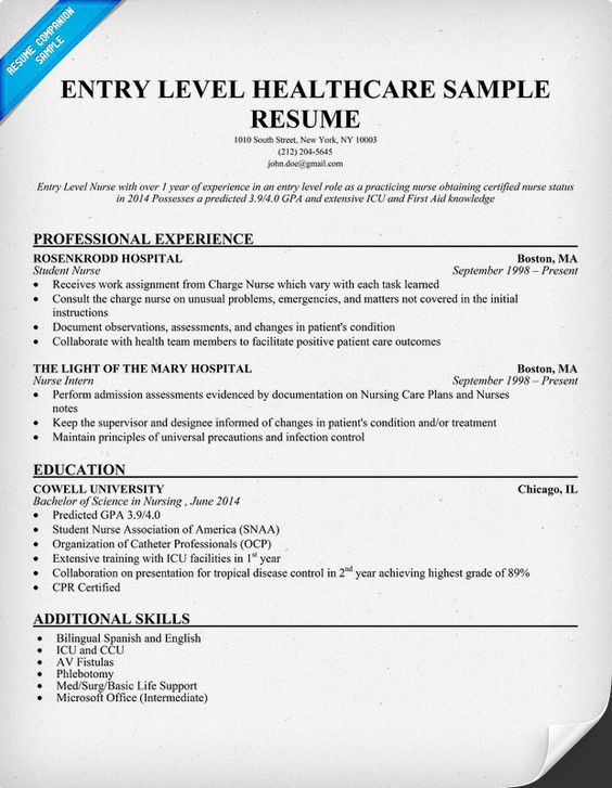 resume resume examples and entry level on pinterest
