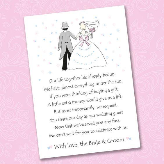 Poems For Wedding Invitations Asking Money Towards Honeymoon – Wedding Poems for Invitation Cards