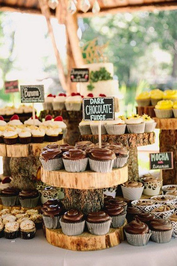 flavored cupcakes wedding dessert ideas / http://www.deerpearlflowers.com/autumn-fall-wedding-ideas/: