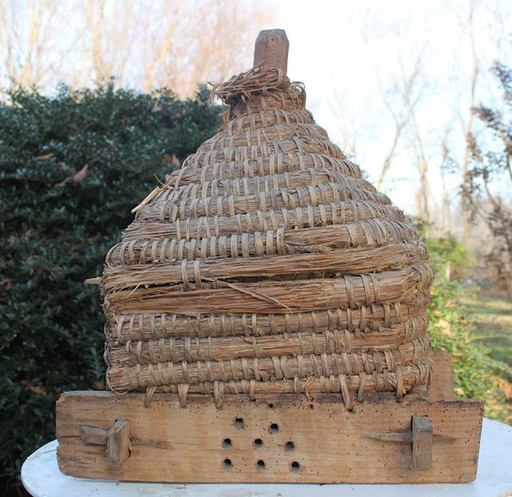 Antique French Bee Skep: