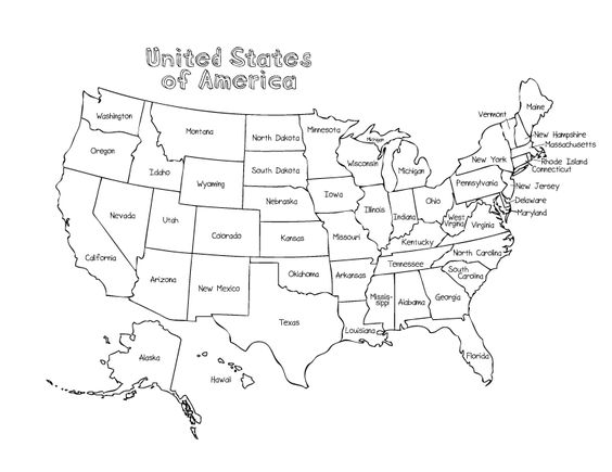coloring pages coloring and map of usa on pinterest