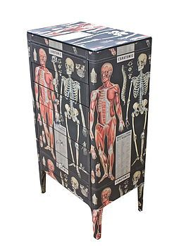 Anatomy Skeleton Chest Of Drawers . dark decor: