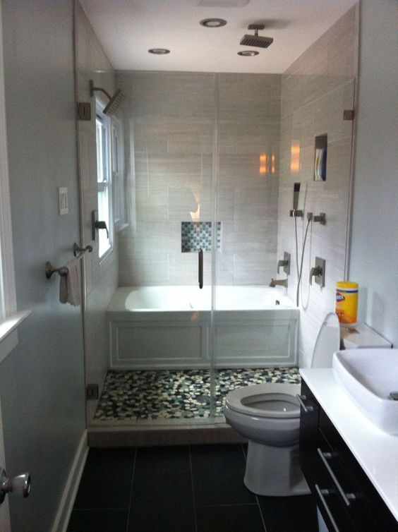 Illustration Of Efficient Bathroom Space Saving With