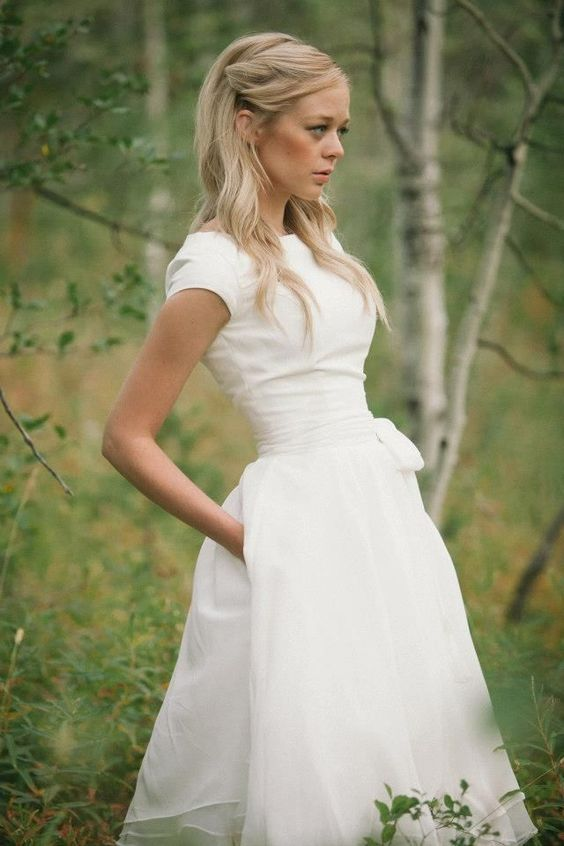 LDS Wedding Dress | Modest Wedding Dress | Wedding Dress with Pockets | Mormon Wedding