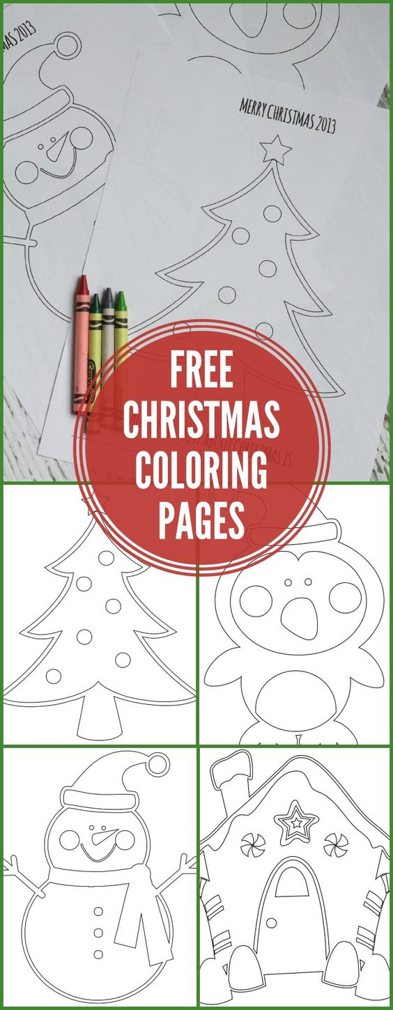 FREE Christmas Coloring Pages love the fill in the blank