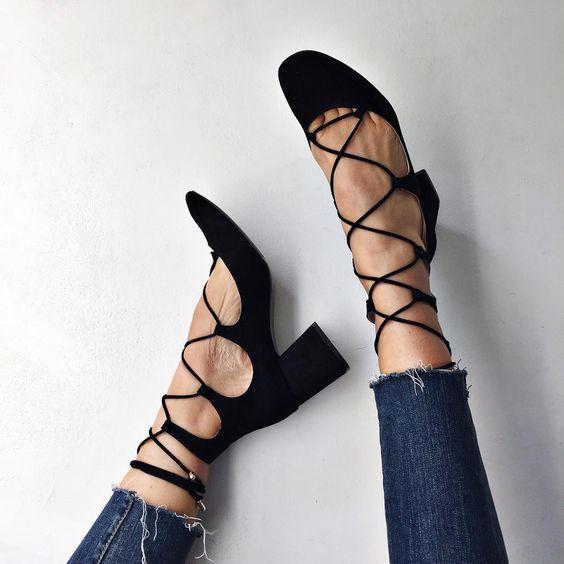 Shalice Noel (@shalicenoel) • Instagram   Zara lace-up high heeled shoes: