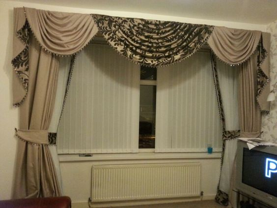 Stunning Swags And Tails With Double Curtains Curtain Swag And Tails Pinterest Swag