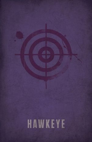 Superhero Decor Hawkeye Clint Barton Poster with Bullseye