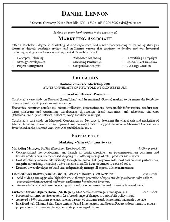 example of resume resume and sample resume on pinterest