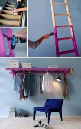 como fazer arara de roupas: